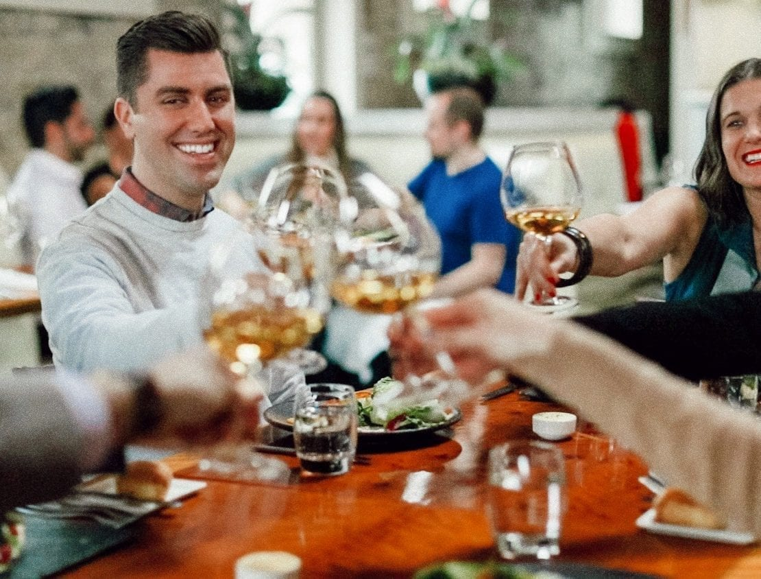 Enjoying Gary Farrell Vineyards wine and food pairing at Valette in Healdsburg.