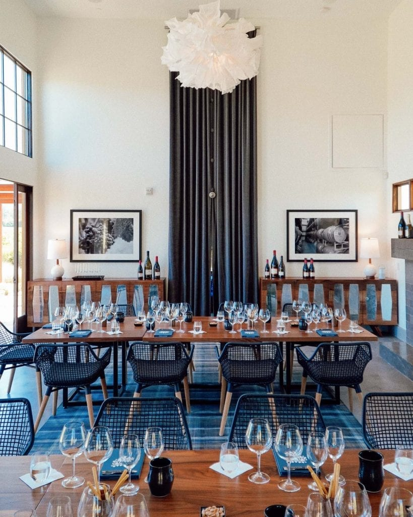 The Sonoma House tasting salon in Sonoma at Patz & Hall