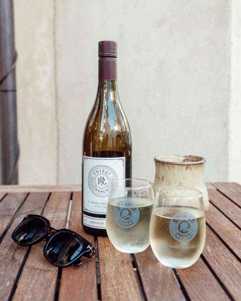 2017 Grenache Blanc at Priest Ranch Winery's Yountville Tasting Room