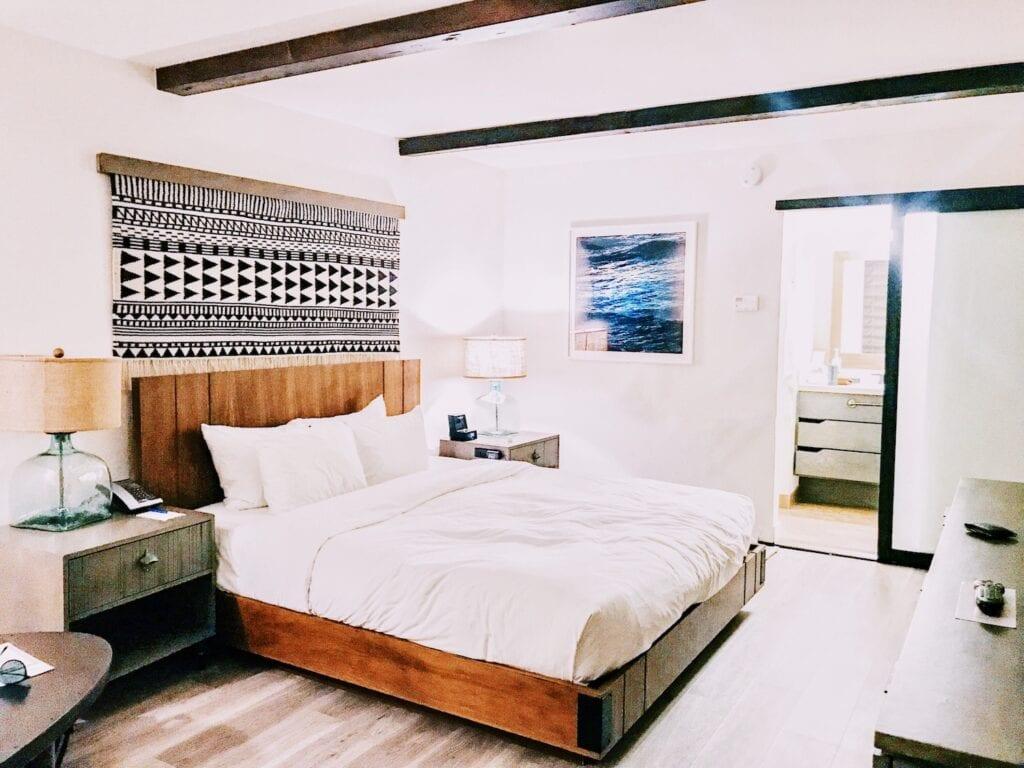 Guest room at The Kimpton Goodland Hotel in Goleta (Santa Barbara).